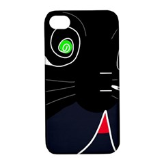 Big Cat Apple Iphone 4/4s Hardshell Case With Stand by Valentinaart