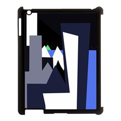 Glacier Apple Ipad 3/4 Case (black) by Valentinaart