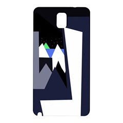 Glacier Samsung Galaxy Note 3 N9005 Hardshell Back Case by Valentinaart