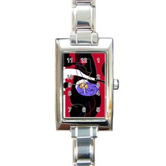 Love Rectangle Italian Charm Watch by Valentinaart