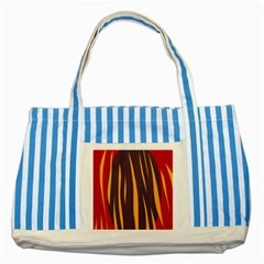 Fire Striped Blue Tote Bag by Valentinaart