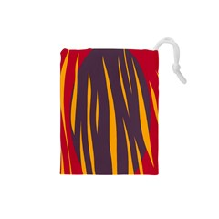 Fire Drawstring Pouches (small)  by Valentinaart