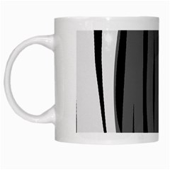 Gray, Black And White Design White Mugs by Valentinaart