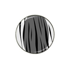 Gray, Black And White Design Hat Clip Ball Marker (10 Pack) by Valentinaart
