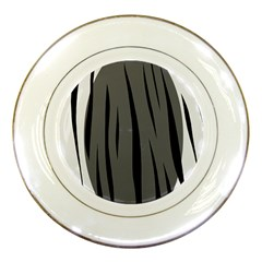 Gray, Black And White Design Porcelain Plates by Valentinaart