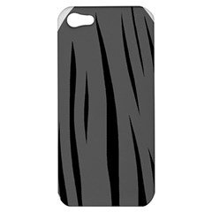 Gray, Black And White Design Apple Iphone 5 Hardshell Case by Valentinaart