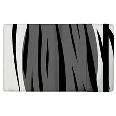 Gray, Black And White Design Apple Ipad 3/4 Flip Case by Valentinaart