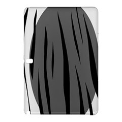 Gray, Black And White Design Samsung Galaxy Tab Pro 12 2 Hardshell Case by Valentinaart