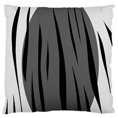 Gray, Black And White Design Large Flano Cushion Case (two Sides) by Valentinaart