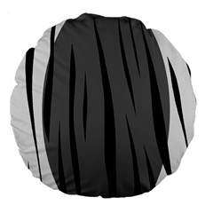 Gray, Black And White Design Large 18  Premium Flano Round Cushions by Valentinaart