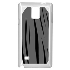 Gray, Black And White Design Samsung Galaxy Note 4 Case (white) by Valentinaart