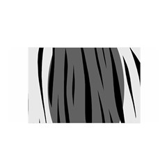 Gray, Black And White Design Satin Wrap by Valentinaart