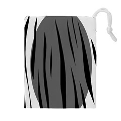Gray, Black And White Design Drawstring Pouches (extra Large) by Valentinaart