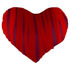 Hot Lava Large 19  Premium Flano Heart Shape Cushions