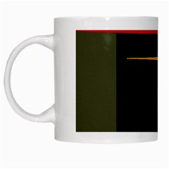 Colorful Lines  White Mugs by Valentinaart