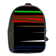 Colorful Lines  School Bags(large)  by Valentinaart