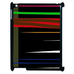 Colorful Lines  Apple Ipad 2 Case (black) by Valentinaart
