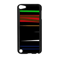 Colorful Lines  Apple Ipod Touch 5 Case (black) by Valentinaart