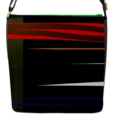 Colorful Lines  Flap Messenger Bag (s) by Valentinaart