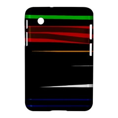 Colorful Lines  Samsung Galaxy Tab 2 (7 ) P3100 Hardshell Case  by Valentinaart
