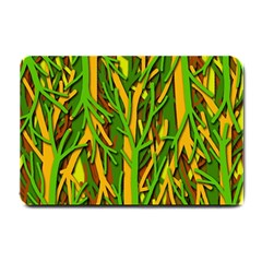Upside Down Forest Small Doormat  by Valentinaart