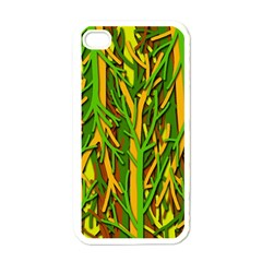 Upside Down Forest Apple Iphone 4 Case (white) by Valentinaart