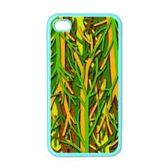 Upside Down Forest Apple Iphone 4 Case (color) by Valentinaart