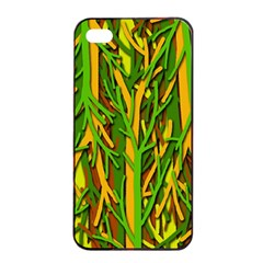 Upside Down Forest Apple Iphone 4/4s Seamless Case (black) by Valentinaart