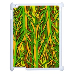 Upside Down Forest Apple Ipad 2 Case (white) by Valentinaart