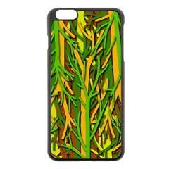 Upside Down Forest Apple Iphone 6 Plus/6s Plus Black Enamel Case by Valentinaart