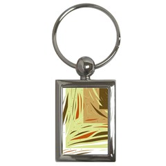 Brown Decorative Design Key Chains (rectangle)  by Valentinaart
