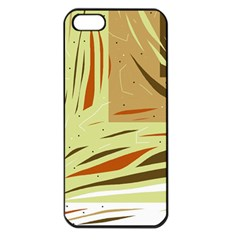 Brown Decorative Design Apple Iphone 5 Seamless Case (black) by Valentinaart