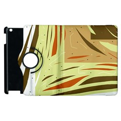 Brown Decorative Design Apple Ipad 3/4 Flip 360 Case by Valentinaart