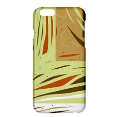 Brown Decorative Design Apple Iphone 6 Plus/6s Plus Hardshell Case by Valentinaart