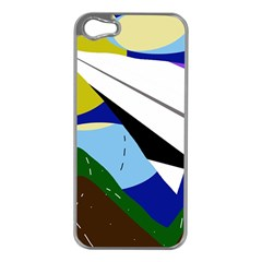 Paper Airplane Apple Iphone 5 Case (silver) by Valentinaart