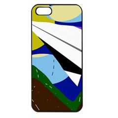 Paper Airplane Apple Iphone 5 Seamless Case (black) by Valentinaart