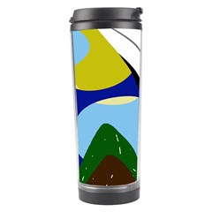Paper Airplane Travel Tumbler by Valentinaart