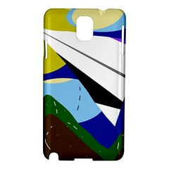 Paper Airplane Samsung Galaxy Note 3 N9005 Hardshell Case by Valentinaart