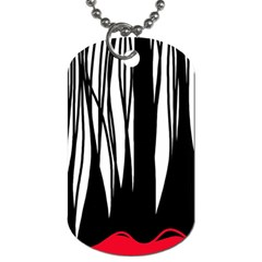 Black Forest Dog Tag (one Side) by Valentinaart
