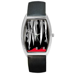 Black Forest Barrel Style Metal Watch by Valentinaart