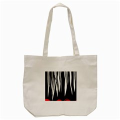 Black Forest Tote Bag (cream) by Valentinaart