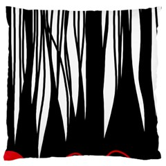 Black Forest Large Cushion Case (two Sides) by Valentinaart