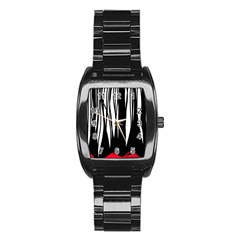 Black Forest Stainless Steel Barrel Watch by Valentinaart