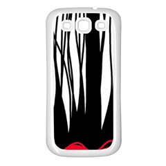 Black Forest Samsung Galaxy S3 Back Case (white) by Valentinaart