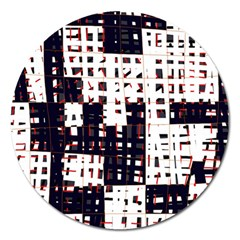 Abstract City Landscape Magnet 5  (round) by Valentinaart