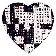Abstract City Landscape Jigsaw Puzzle (heart) by Valentinaart