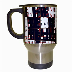 Abstract City Landscape Travel Mugs (white) by Valentinaart
