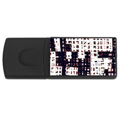 Abstract City Landscape Usb Flash Drive Rectangular (4 Gb)  by Valentinaart