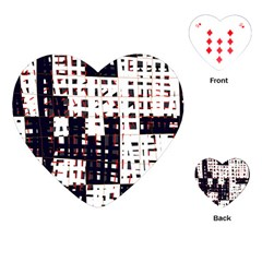 Abstract City Landscape Playing Cards (heart)  by Valentinaart