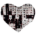Abstract city landscape Large 19  Premium Heart Shape Cushions Front